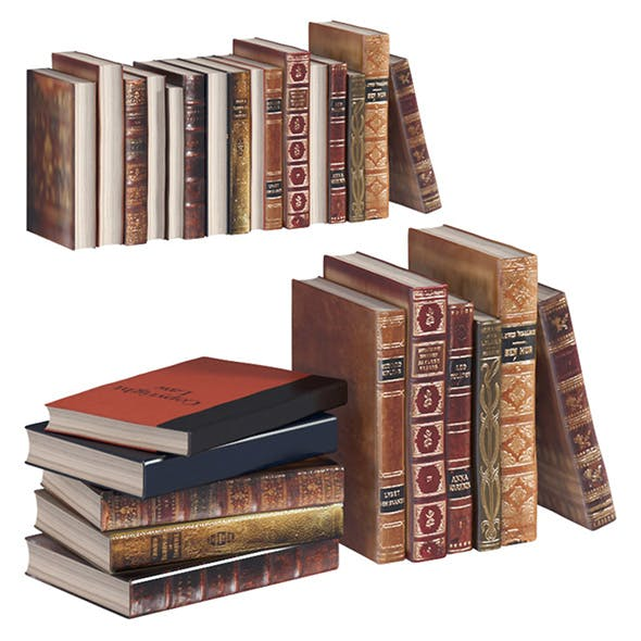 L3DV02G02 - old books collection set - 3DOcean Item for Sale