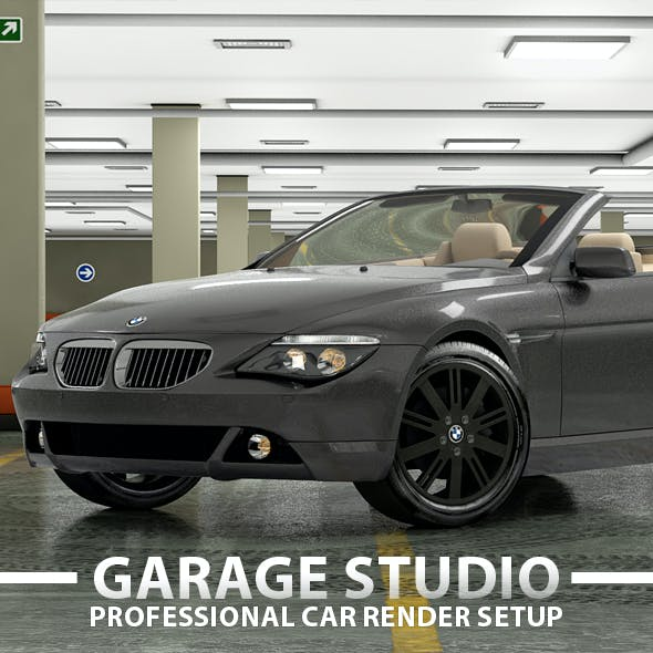 Garage Car Render Studio