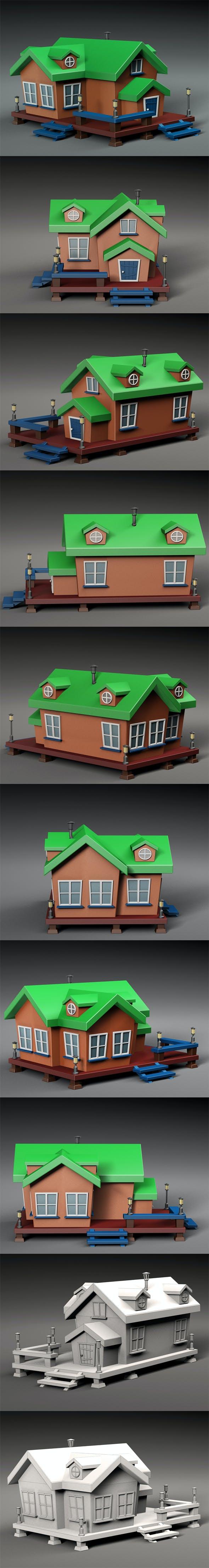 Cartoon house v1 - 3DOcean Item for Sale