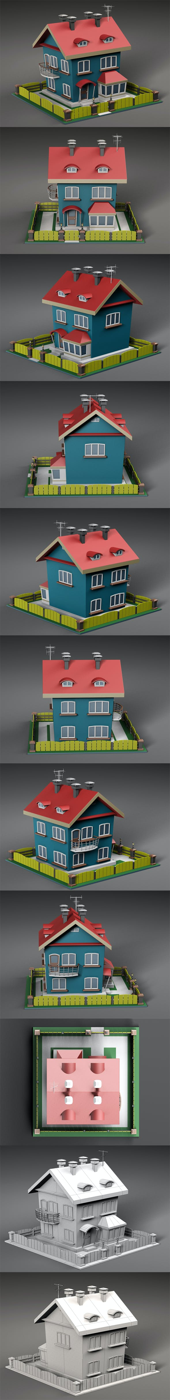 Cartoon house v2 - 3DOcean Item for Sale