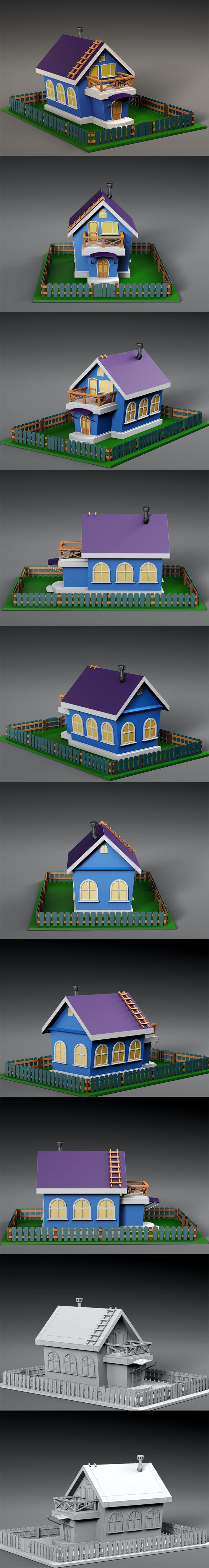 Cartoon house v3 - 3DOcean Item for Sale