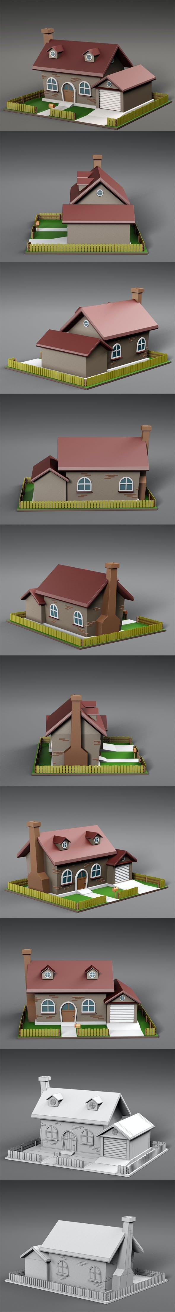 Cartoon house v4 - 3DOcean Item for Sale