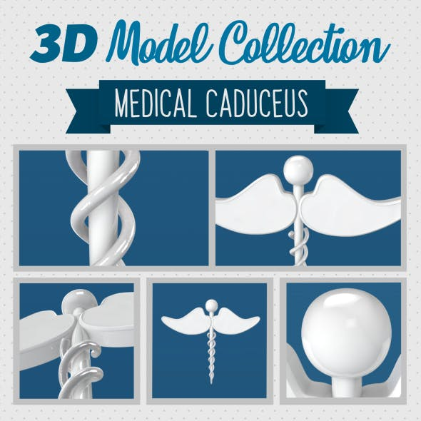 Medical Caduceus - 3DOcean Item for Sale