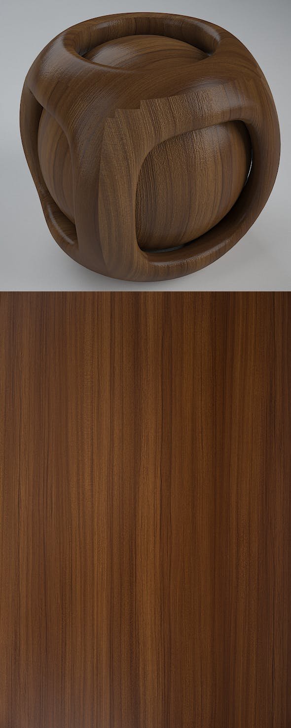 Real Plywood Vray Material Brilliant Teak - 3DOcean Item for Sale