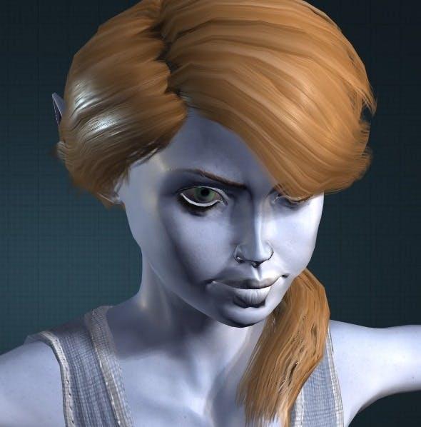 Blue Elf model obj - 3DOcean Item for Sale
