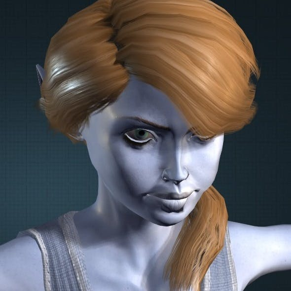 Blue Elf model obj