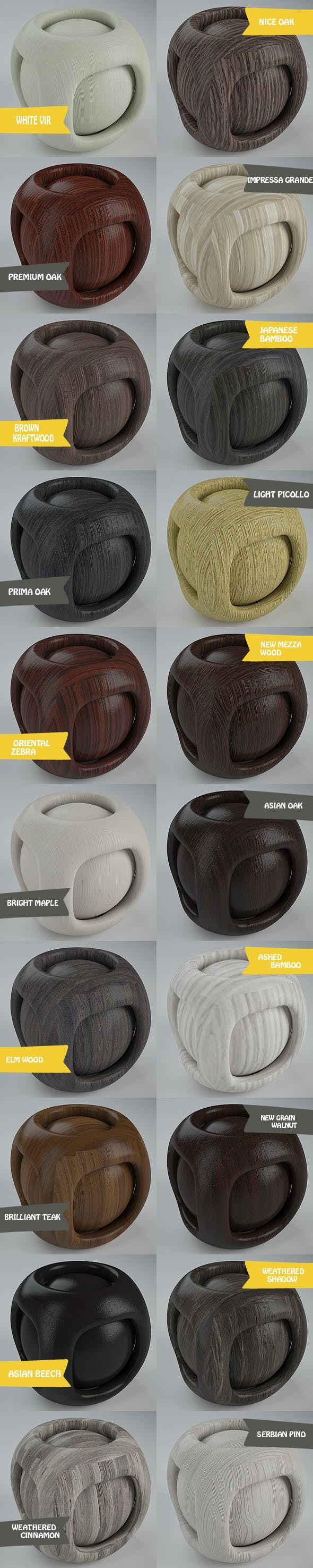 Real Plywood Pack 3 (20 Vray Material) - 3DOcean Item for Sale