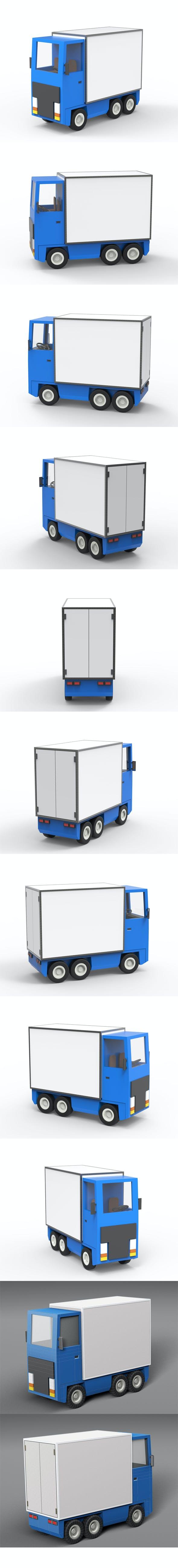 Cartoon freight car 2 - 3DOcean Item for Sale