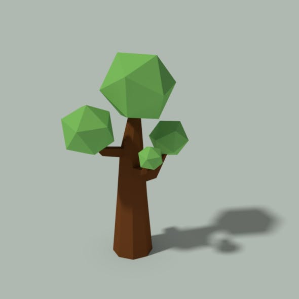 Low Poly Tree - 3DOcean Item for Sale