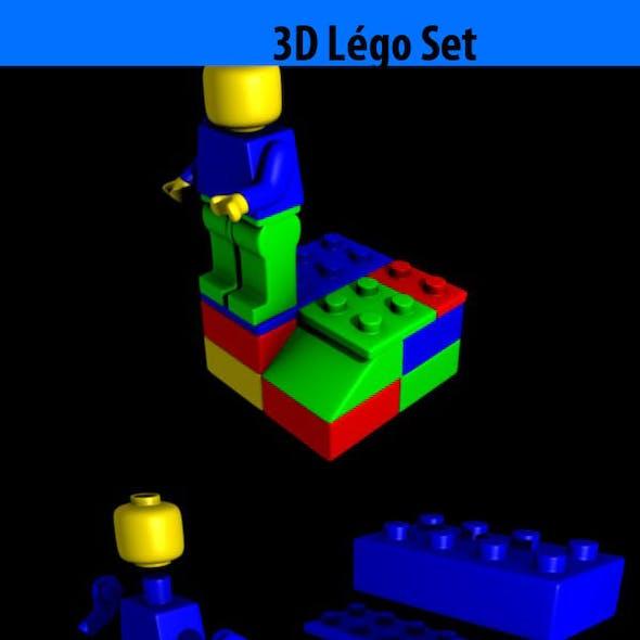 High Poly Lego set
