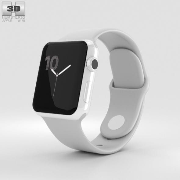 Apple Watch Edition Series 2 38mm White Ceramic Case Cloud Sport Band - 3DOcean Item for Sale