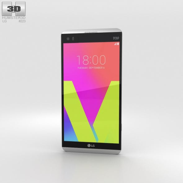 LG V20 Silver - 3DOcean Item for Sale