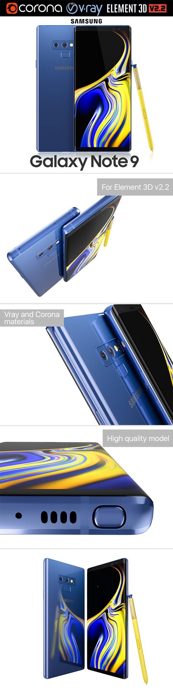 Samsung GALAXY Note 9 Ocean Blue - 3DOcean Item for Sale