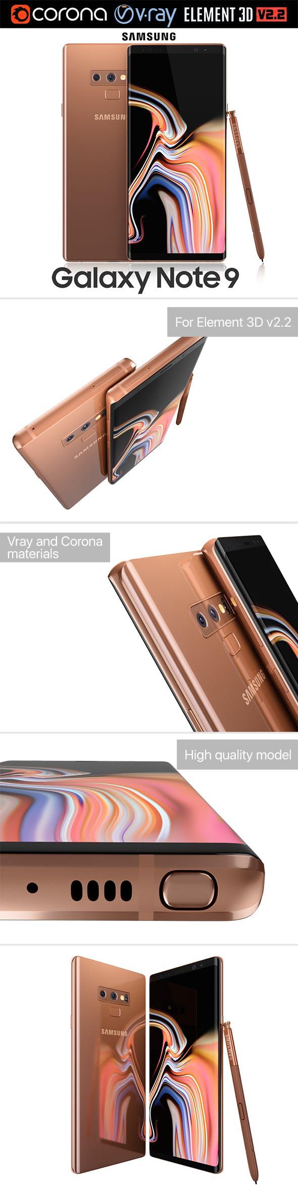 Samsung GALAXY Note 9 Metallic Copper - 3DOcean Item for Sale