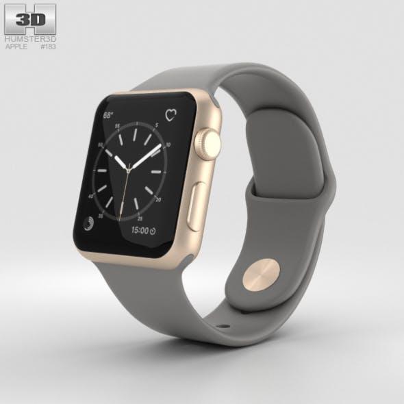 Apple Watch Series 2 38mm Gold Aluminum Case Concrete Sport Band