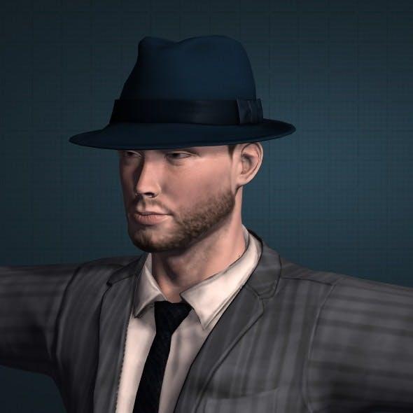 3D Gangster model obj