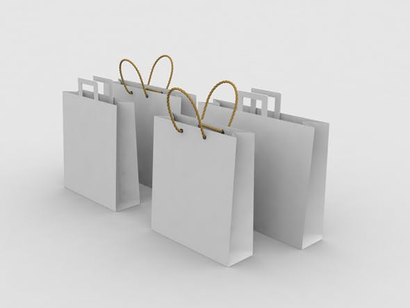 Paper Shopping Bags V2 - 3DOcean Item for Sale