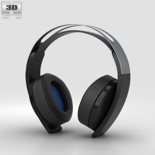 Sony PlayStation 4 Platinum Wireless Headset - 3DOcean Item for Sale