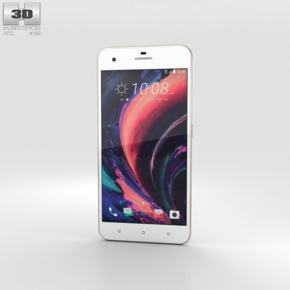 HTC Desire 10 Pro Polar White - 3DOcean Item for Sale