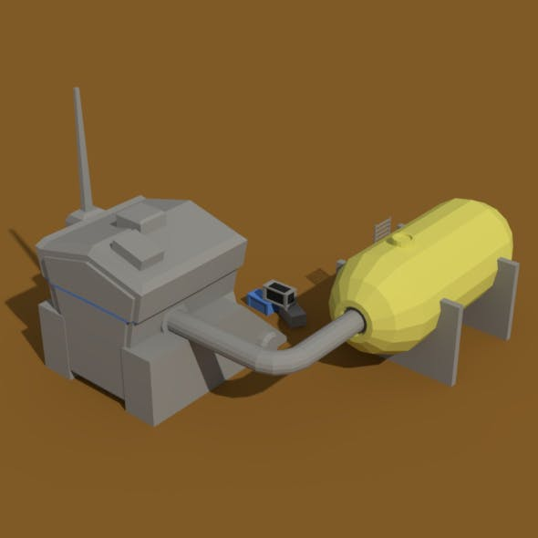 Low Poly Scifi Generator