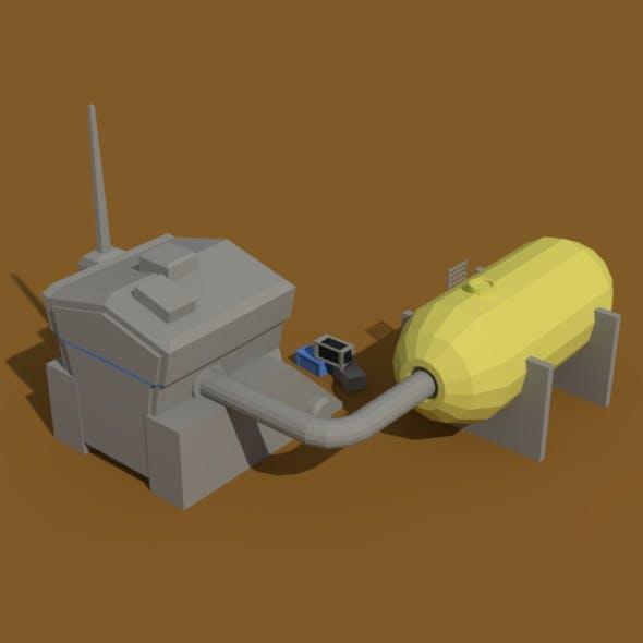 Low Poly Scifi Generator