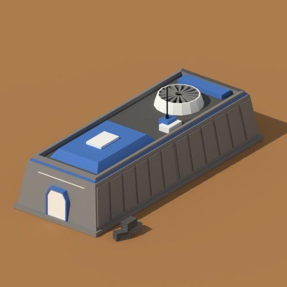Low Poly Scifi Hangar 1