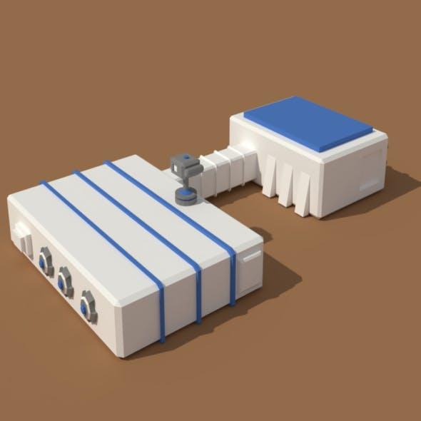 Low Poly Scifi Hangar 2 - 3DOcean Item for Sale