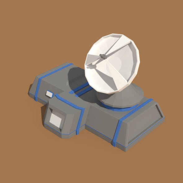 Low Poly Scifi Radar Station