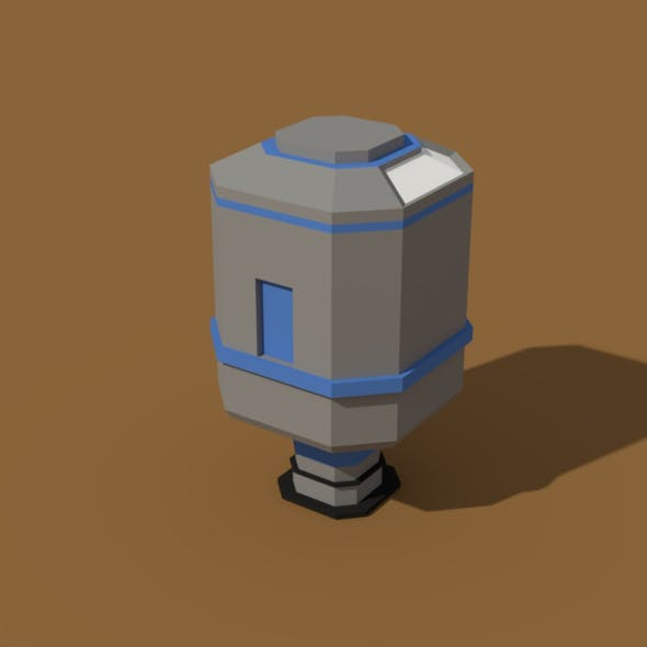 Low Poly Scifi Silo