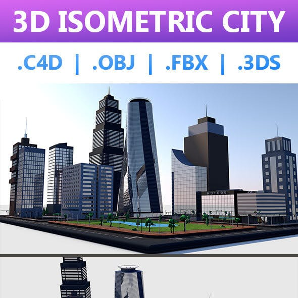 3D Isometric City