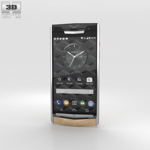 Vertu Signature Touch (2015) Almond Alligator - 3DOcean Item for Sale