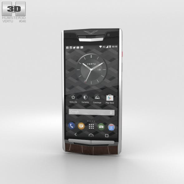 Vertu Signature Touch (2015) Cocoa Alligator - 3DOcean Item for Sale