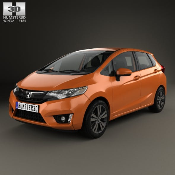 Honda Jazz with HQ interior 2016 - 3DOcean Item for Sale