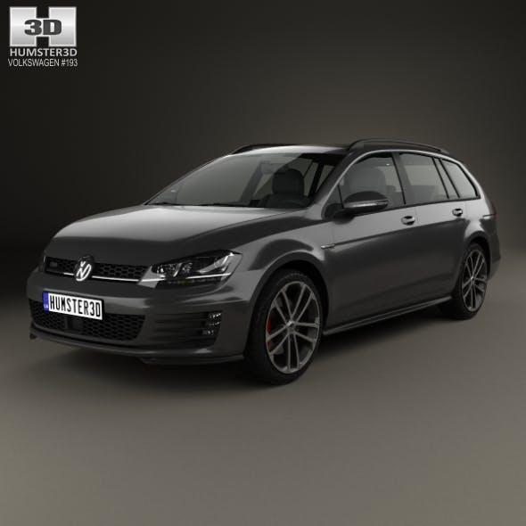 Volkswagen Golf GTD Variant 2015 - 3DOcean Item for Sale