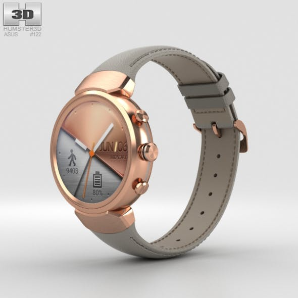 Asus Zenwatch 3 Rose Gold - 3DOcean Item for Sale