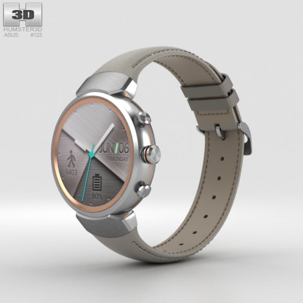 Asus Zenwatch 3 Silver - 3DOcean Item for Sale