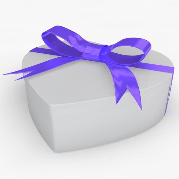 Heart Gift Box Realistic Model