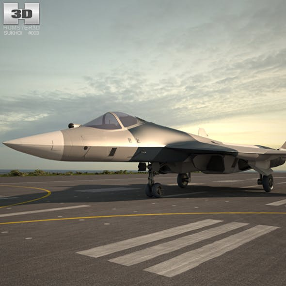 Sukhoi PAK FA (T-50) - 3DOcean Item for Sale