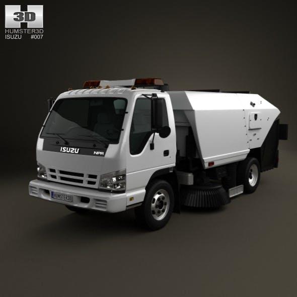 Isuzu NPR Road Cleaner 2011 - 3DOcean Item for Sale
