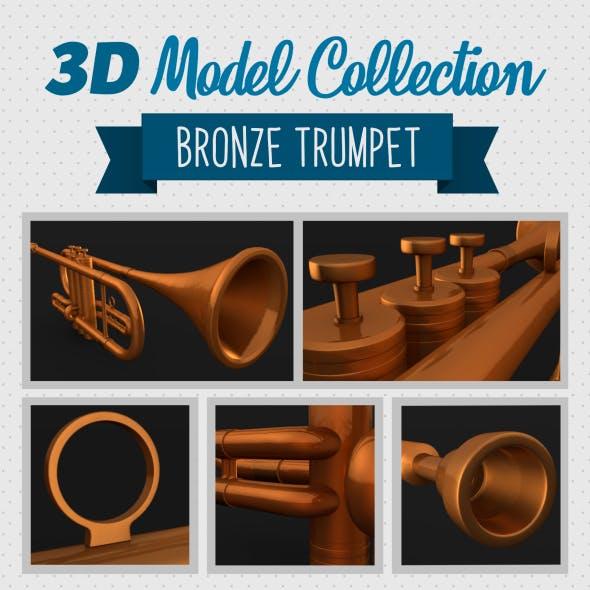 Bronze Trumpet - 3DOcean Item for Sale