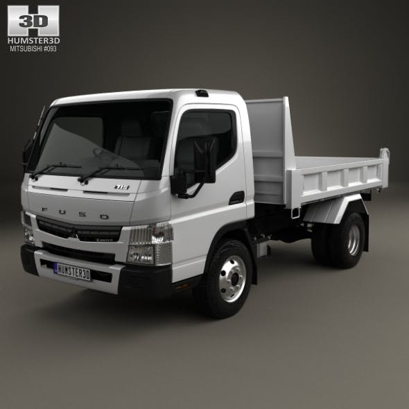 Mitsubishi Fuso Canter Tipper Truck 2010 - 3DOcean Item for Sale