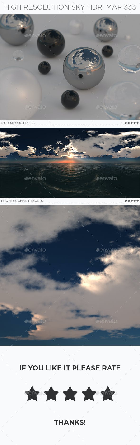 High Resolution Sky HDRi Map 333 - 3DOcean Item for Sale