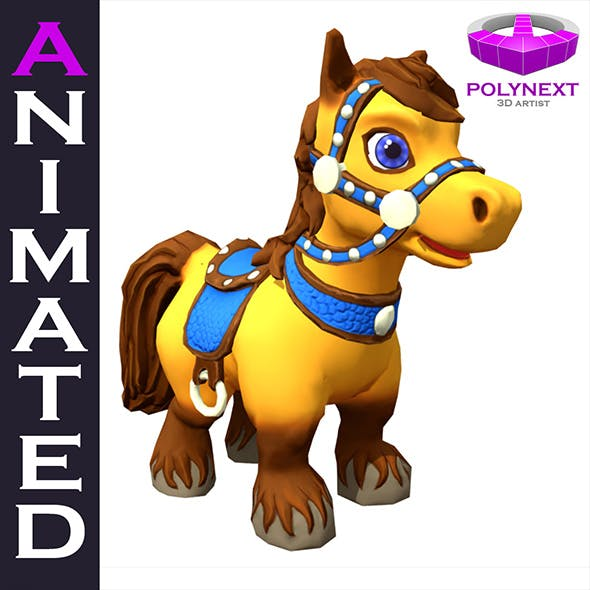 Cartoon Talking Horse