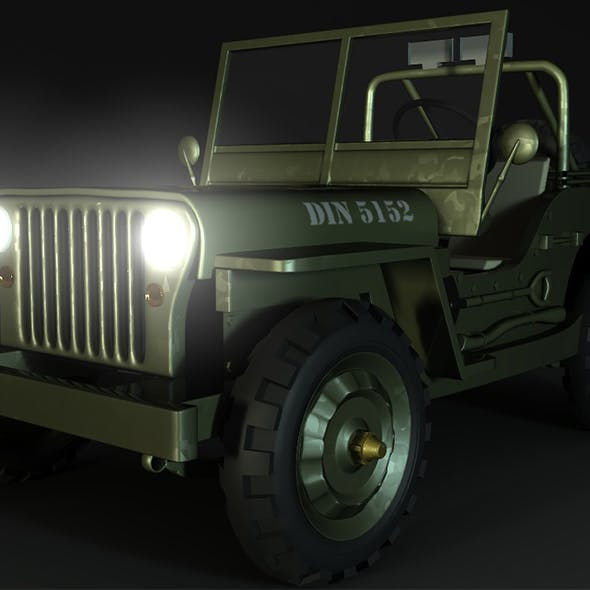 willy jeep - 3DOcean Item for Sale