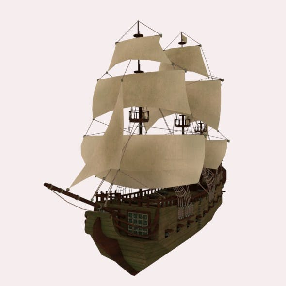 Pirate Ship - 3DOcean Item for Sale
