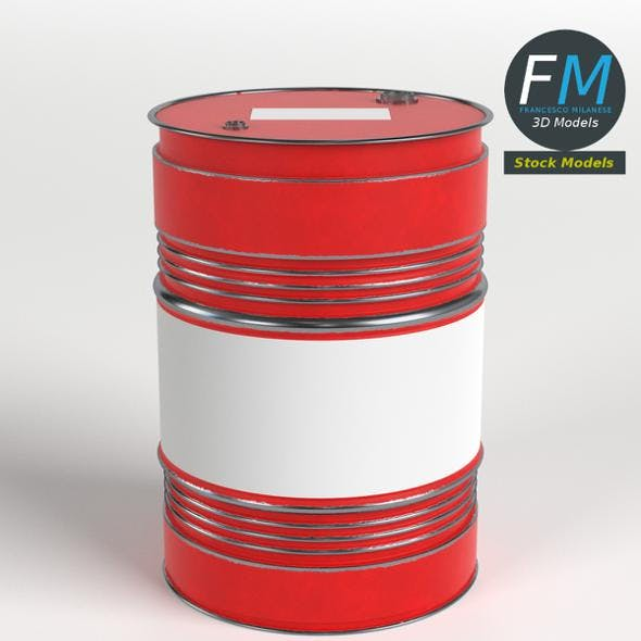 Oil Drum Barrel - 3DOcean Item for Sale