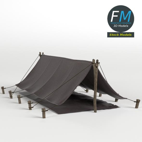 Simple Pup Tent - 3DOcean Item for Sale