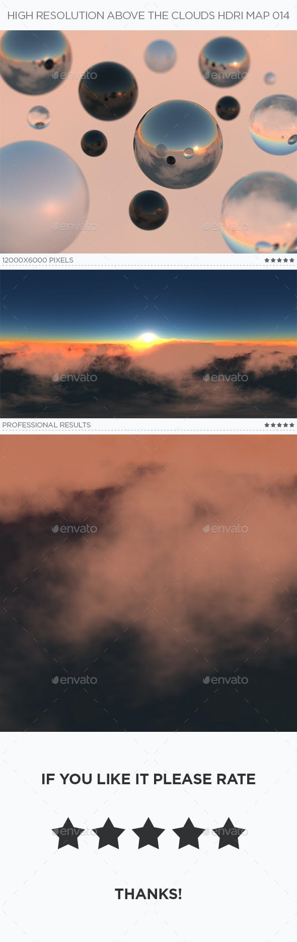 High Resolution Above The Clouds HDRi Map 014 - 3DOcean Item for Sale