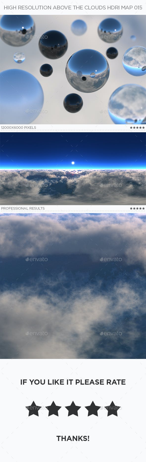 High Resolution Above The Clouds HDRi Map 015 - 3DOcean Item for Sale