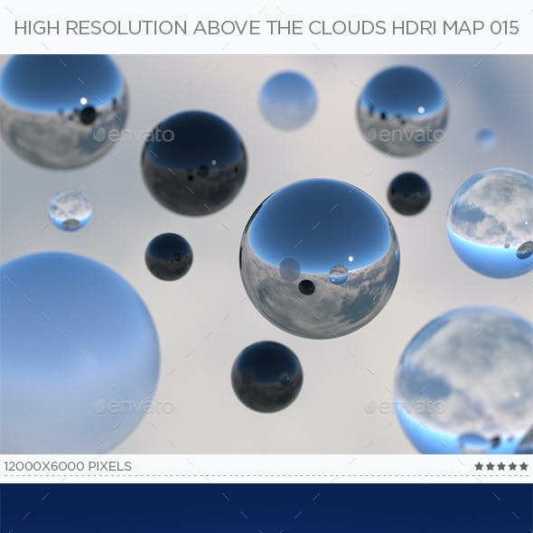 High Resolution Above The Clouds HDRi Map 015